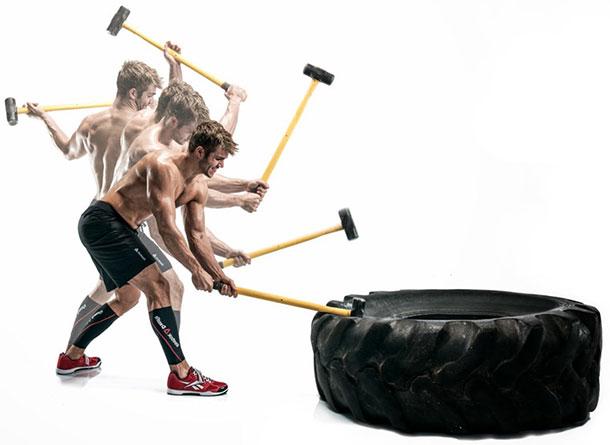 Удар по мышцам