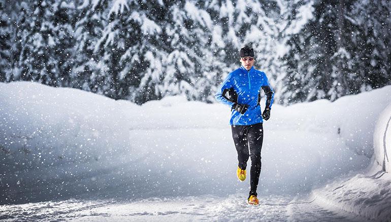 Пробежка зимой