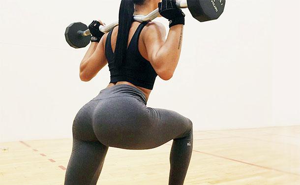 Выпады с гантелями какие мышцы работают