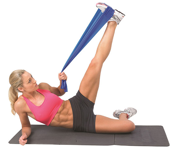 Тренировка для ног с эспандером
